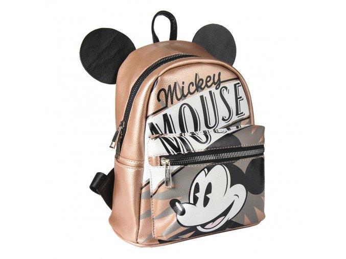 mickey mouse batoh s usima hnedy