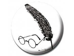 harry potter placka glasses and feather