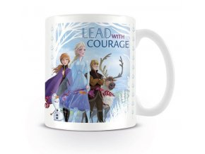 disney ledove kralovstvi frozen hrnek lead with courage 2