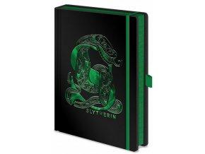 Luxusní blok A5 Harry Potter - Zmijozel, černý