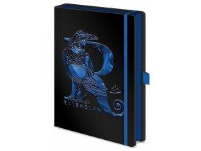 Luxusní zápisník A5 Harry Potter - Havraspár, černý