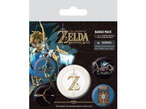 the legend of zelda sada placek z emblem