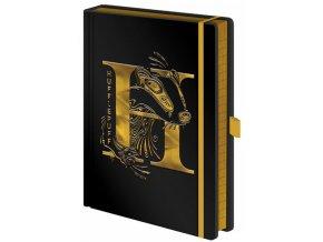 Luxusní zápisník A5 Harry Potter - Mrzimor, černý