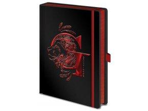 Luxusní zápisník A5 Harry Potter - Nebelvír, černý