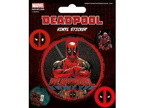 marvel deadpool sada samolepek