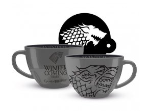 hra o truny game of thrones capuccino hrnek stark