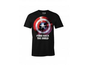 captain america marvel panske tricko take back the shield