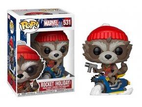 marvel guardians of the galaxy strazci galaxie sberatelska figurka funko pop rocket holiday