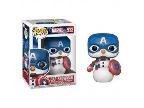 marvel avengers sberatelska figurka funko pop captain america snowman