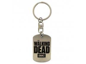 the walking dead privesek na klice dog tag logo