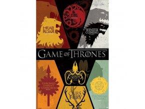 plakat game of thrones znaky rodu 5f4338e982c44