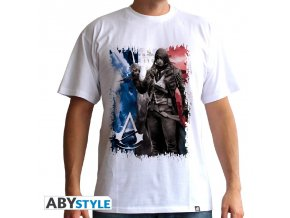 assassin s creed tricko ac5 flag man ss white basic