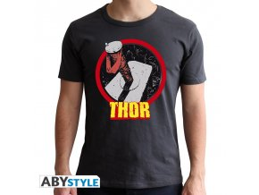 marvel avengers panske tricko thor man ss dark grey new fit