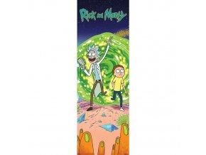 plakat na dvere rick and morty portal 5f89186a659cb