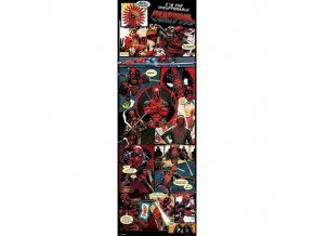 plakat na dvere deadpool panels 5f97a6fa6c1b0