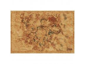 plakat legend of zelda hyrule map 5f472d6a05dff