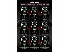 plakat star wars expressions of darth vader 5f3609ea0ee35