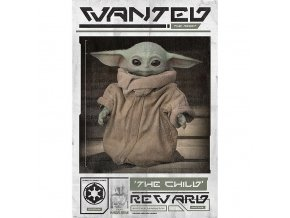 plakat star wars mandalorian wanted the child 5f3366e969285