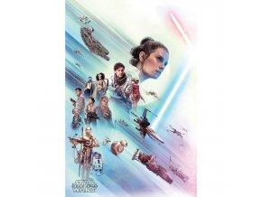 plakat star wars rise of skywalker rey 5f5850e9b6109