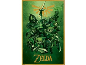 legend of zelda poster link