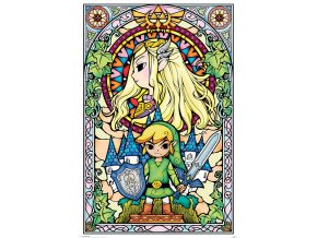 legend of zelda poster Stained Glass