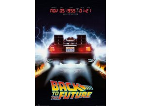 poster back to the future návrat do budoucnosti plakat delorean