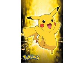 pokemon poster pikachu neon