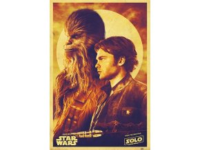 poster plakat Solo Han and Chewie star wars