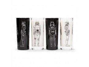 star wars sada sklenic stormtrooper 4 ks