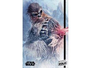 poster plakat Chewie Blaster star wars