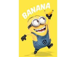 poster plakát mimoni minions banana