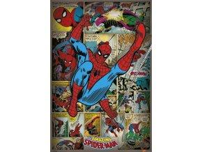 marvel spiderman plakat retro