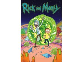 poster rick and morty Portal plakat