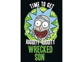 poster rick and morty wrecked son