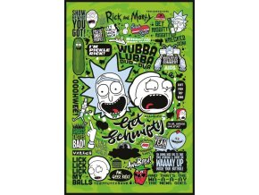 poster rick and morty plakat Quotes citaty