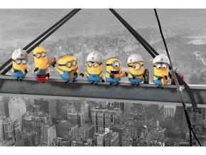poster plakát minions mimoni Lunch on a Skycraper