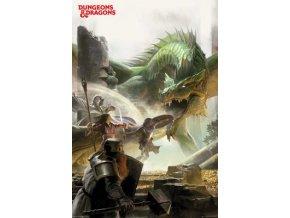 poster plakat DUNGEONS & DRAGONS drak