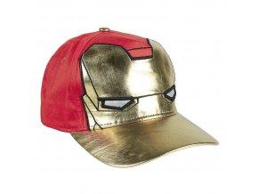 marvel avengers cepice detska ksiltovka cervena iron man