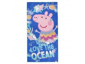 prasatko pepa peppa pig osuska rucnik i love ocean