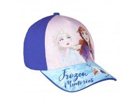frozen ledove kralovstvi detska baseballova cepice ksiltovka modra elsa anna
