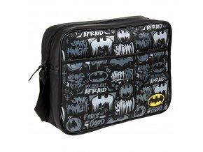 dc comics batman kozenkova brasna taska pres rameno grafiti