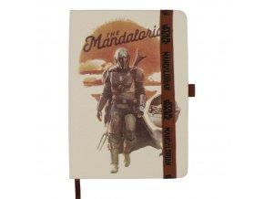 star wars mandalorian poznamkovy blok notes mandalorian