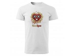 GR01 009 Real Love panske tricko WHITE