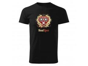 GR01 009 Real Love panske tricko BLACK
