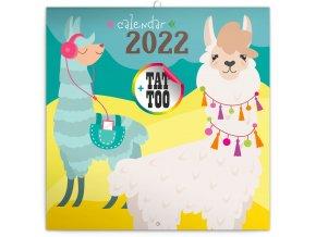poznamkovy kalendar stastne lamy 2022 30 30 cm 222105 31