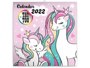 poznamkovy kalendar stastni jednorozci 2022 30 30 cm 967313 31