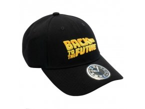 retour vers le futur casquette black logo retour vers le futur