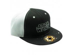 star wars casquette snapback noir blanc logo