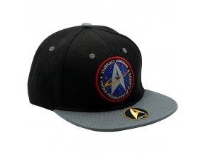 star trek casquette snapback noir gris starfleet command