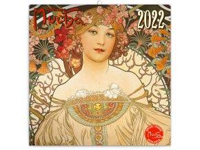 poznamkovy kalendar alfons mucha 2022 30 30 cm 29133 31